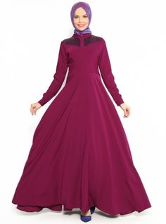 Dress asude - Purple - Pinar Aksam