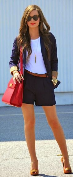 J.crew Navy Pleated Crepe Shorts by For All Things Lovely