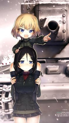 Katsyusha and Nonna~Girls und Panzer Anime Love, Brave Witches, Fallout Art, Anime Military, Tank Girl, Panzer, Anime Figures, Anime Art Girl, Character Concept