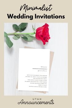 This wedding invitation design is perfect for couples who prefer a simple and straightforward announcement of their big day. Simple text over a plain background is utilized to highlight the details of their wedding day.