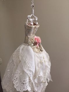 Vintage shabby art dress.