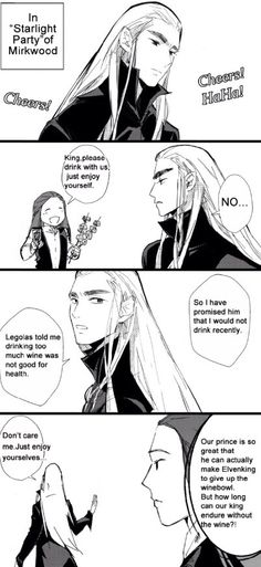 Tales of Mirkwood - Thranduils alcohol problem Part I