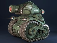Chibi Tank by Moran Goldstein, via Behance Armor Games, Invader Zim Characters, Motocross Helmets, Modelos 3d, Concept Weapons, Battle Tank, Animation, Panzer, Armored Vehicles