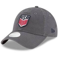 82f3024f Women's US Soccer New Era Gray Core Classic Twill Slouch Adjustable Hat,  Your Price: