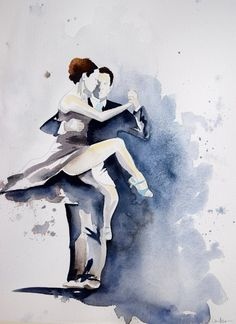 Tango  Painting -  Talking In Circles, laurenspaintpalette