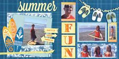 Image result for beach scrapbook page