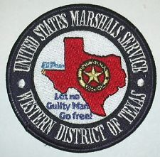 US MARSHAL TEXAS POLICE PATCH