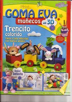 Revistas de manualidades Gratis: Moldes tren en goma eva