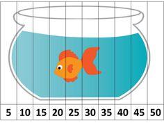 5 erli 10 arlı ve 2 şerli balık puzzle çalışması - Okul Öncesi Etkinlik Faliyetleri - Madamteacher.com