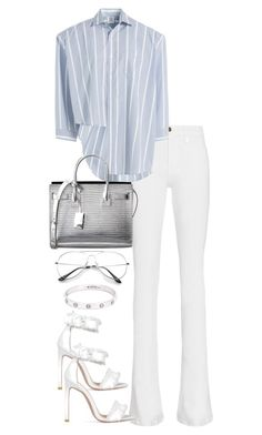 """Untitled #3586"" by theeuropeancloset on Polyvore featuring Frame, Vetements, Yves Saint Laurent and Cartier"
