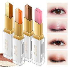 7f78b0e803f Women's fashion makeup 2 color eyeshadow earth color eyeshadow shiny  waterproof lasting eye shadow gradient two