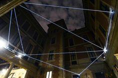 Italian artist Carlo Bernardini does spectacular installations using sideglow optical fibre