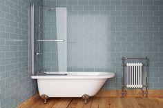 Edwardian Freestanding Bath 1700 x and Bath Screen with Modern Feet - scene rectangle medium Eclectic Bathroom, Modern Bathroom Decor, Bathroom Layout, Bathroom Styling, Bathroom Ideas, Family Bathroom, Lodge Bathroom, Bathroom Interior, Master Bathroom