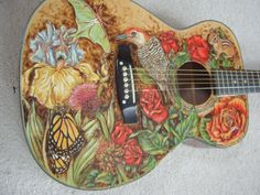 painted acoustic guitar