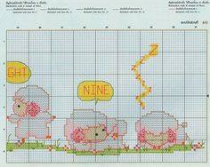 ♥Meus Gráficos De Ponto Cruz♥: Ovelhinhas para Crianças