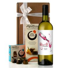"""The Perfect Birthday Wine Gift...this bottle of wine in this chocolates and wine gift has a sketched arty design of a bottle of red wine being poured into a glass with the wording """"Wine a bit you'll feel better"""".  The wine label can also be personalised with a short message over 2 lines, each line up to 15 characters."""