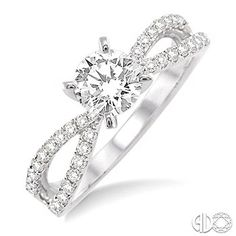 1 Ctw Diamond Engagement Ring with 5/8 Ct Round Cut Center Stone in 14K White Gold