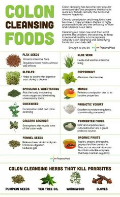 Colon cleansing foods