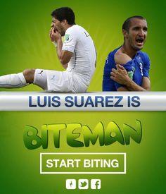 Pacman version dyal Luis Suarez – Giorgio Chiellini | EBUZZ