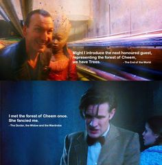I love when they mention episodes with another Doctor. It's just a reminder that he's the same person, no matter what he looks like.