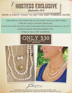 What a great reason to host a party! Get these for just $30 AND get free jewelry with your hostess rewards!