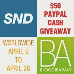 One (1) lucky reader will win $50 Paypal Cash - Worldwide Giveaway