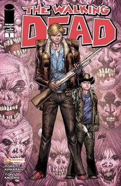 Variant cover for Walking Dead #1 Line art: Rob Liefeld Colors: Juan Fernandez