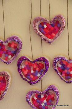 Salt Dough and Perler Bead Valentine Ornaments - Meaningfulmama.com