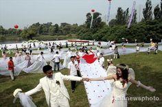 longest wedding dresses