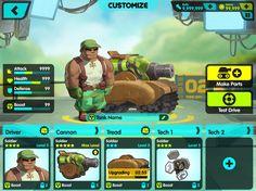 Tank Nation UI - Art & Visual Design Direction by Tavish