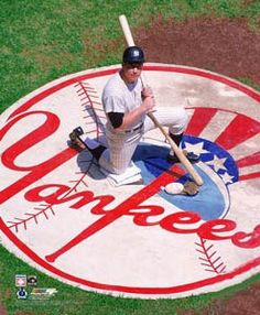 Mickey Mantle YANKEE PRIDE (c.1965) Vintage Photo Poster Print - New York Yankees On Deck Circle