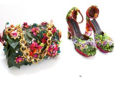 BETTINA SPITZ Cartera flores y sandalias