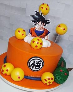 Goku Birthday, Dragon Birthday, My Birthday Cake, Blue Birthday, Tarta Dragon Ball, Dragonball Z Cake, 50th Birthday Centerpieces, Anime Cake, Ball Birthday Parties