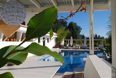 Relaxing by the Pool in Portugal on the Keri Lincoln Primal Yoga Retreat