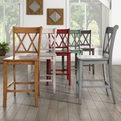 Eleanor X Back Wood 24 in. Counter Chair (Set of 2) by iNSPIRE Q Classic | Overstock.com Shopping - The Best Deals on Bar Stools