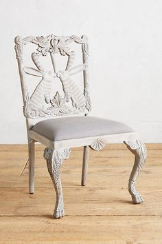 Handcarved Menagerie Rabbit Dining Chair | Anthropologie