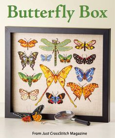 Butterfly Box from the May/Jun 2015 issue of Just CrossStitch Magazine. Order a digital copy here: https://www.anniescatalog.com/detail.html?prod_id=124191