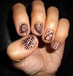 Henna Designed Nail style   Nails I found on Google