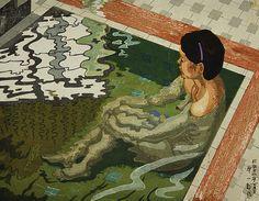 Junichiro Sekino  Bather, 1943  woodblock print