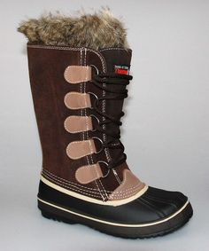 Function and style start here. The lace-up design keeps the elements at bay, while the faux fur lining warms all the way down. This boot is sure to launch an endless loop of compliments!1'' heel10'' shaft14'' circumferenceLace-upMan-made upper