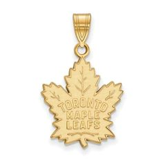 10ky NHL LogoArt Toronto Maple Leafs Large Pendant – FansEnvy