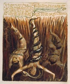 William Blake - Immortals who fall into the Abyss (1794)
