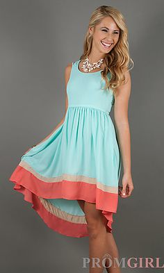 High Low Casual Summer Dress at PromGirl.com