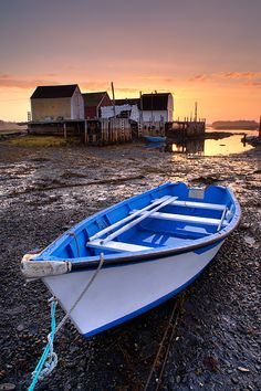 Fishing boat at low tide, Blue Rocks, Nova Scotia - Darwin Wiggett - Natural Moments Photography