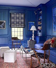 Thom Filicia Paint Colors | Thom Filicia decided to go really bold with his use of blue in this ...