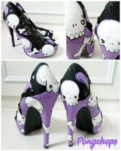 Skull Stilettos by ponychops