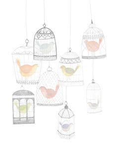 #vogels #kooitjes #illustratie