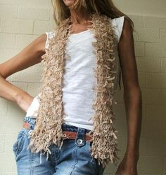 Nude ribbon scarf by ileaiye on Etsy...this could  go with everything!