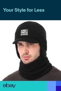 Gorros de invierno Gorras Gorro gorro de punto bufandas para hombre Moda  2019 00c5efc0328