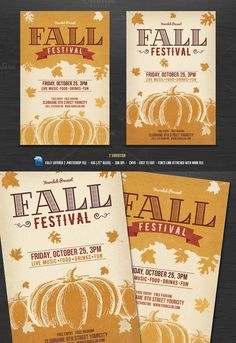 Fall Festival Flyer template. Flyer Templates